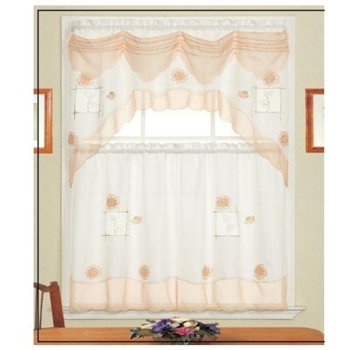 Peach kitchen curtains photo - 1