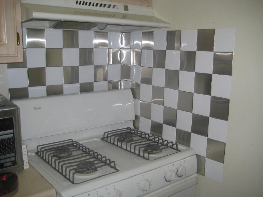 Peel and stick wall tiles for kitchen photo - 3