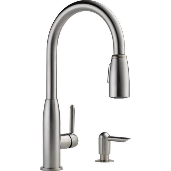 Peerless pull down kitchen faucet photo - 2