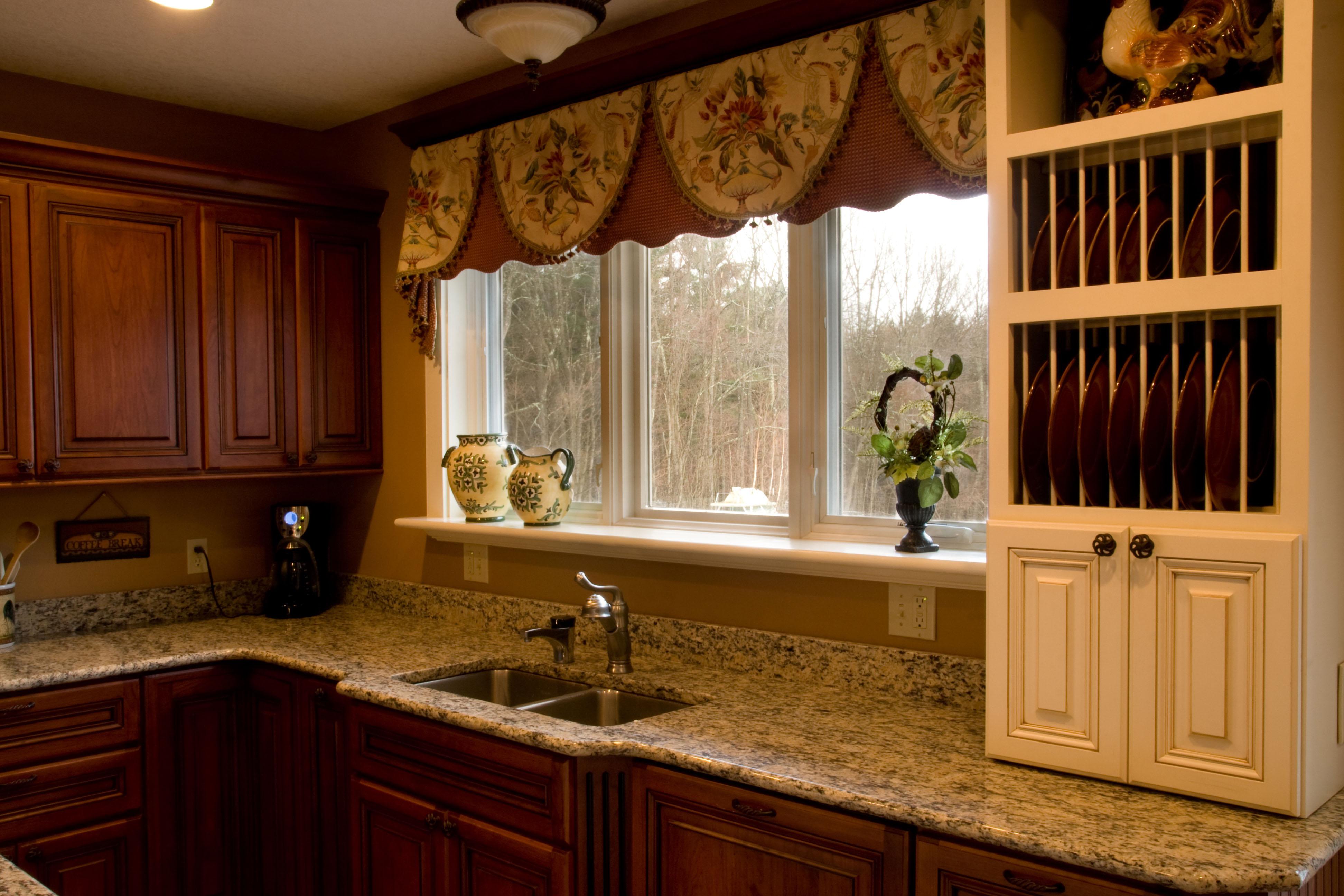 Plaid kitchen curtains photo - 1