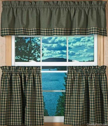 Plaid kitchen curtains photo - 2