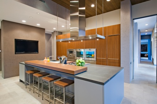 Portable kitchen islands with breakfast bar photo - 2