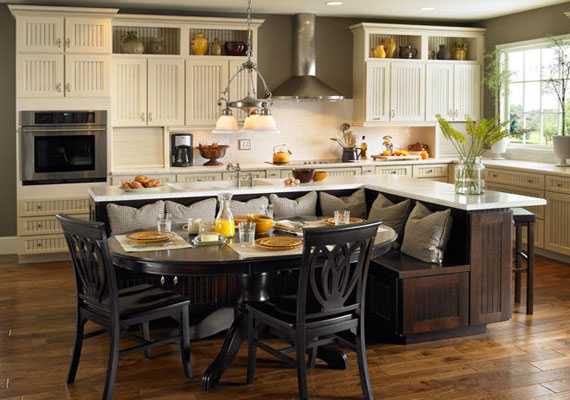 Portable kitchen islands with seating photo - 1