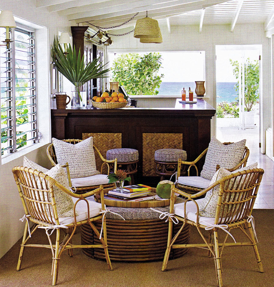 Rattan kitchen table photo - 3