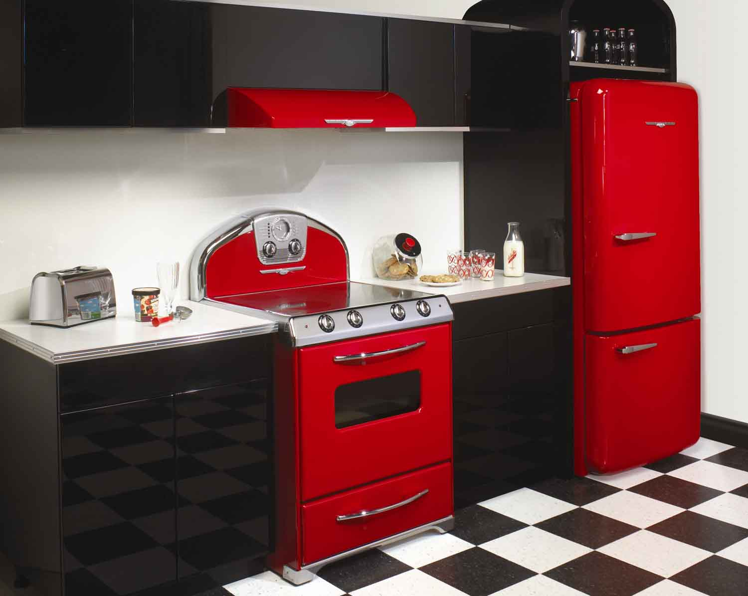 Red And Black Kitchen Accessories Kitchen Ideas