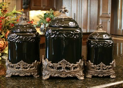 red ceramic kitchen canisters | kitchen ideas