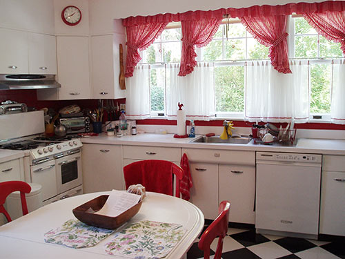 Red Checkered Kitchen Curtains Kitchen Ideas
