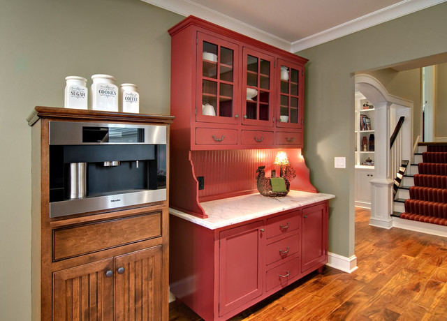 Awesome 10 Photos To Red Kitchen Hutch