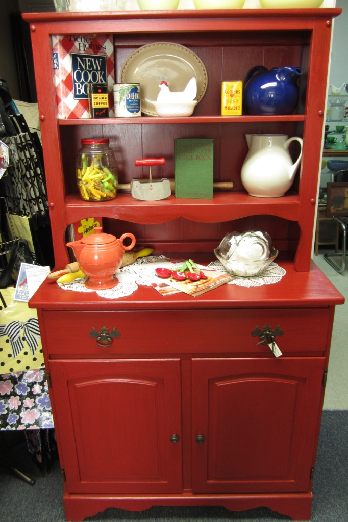 10 Photos To Red Kitchen Hutch