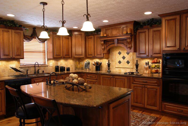 Red kitchen island photo - 2