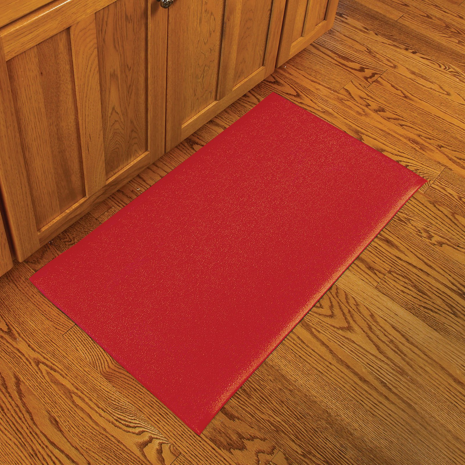 Red kitchen mat photo - 2