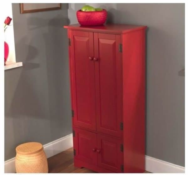 Red kitchen pantry photo - 2