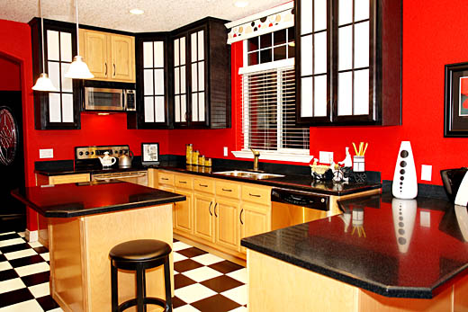 Red kitchen utensils photo - 3