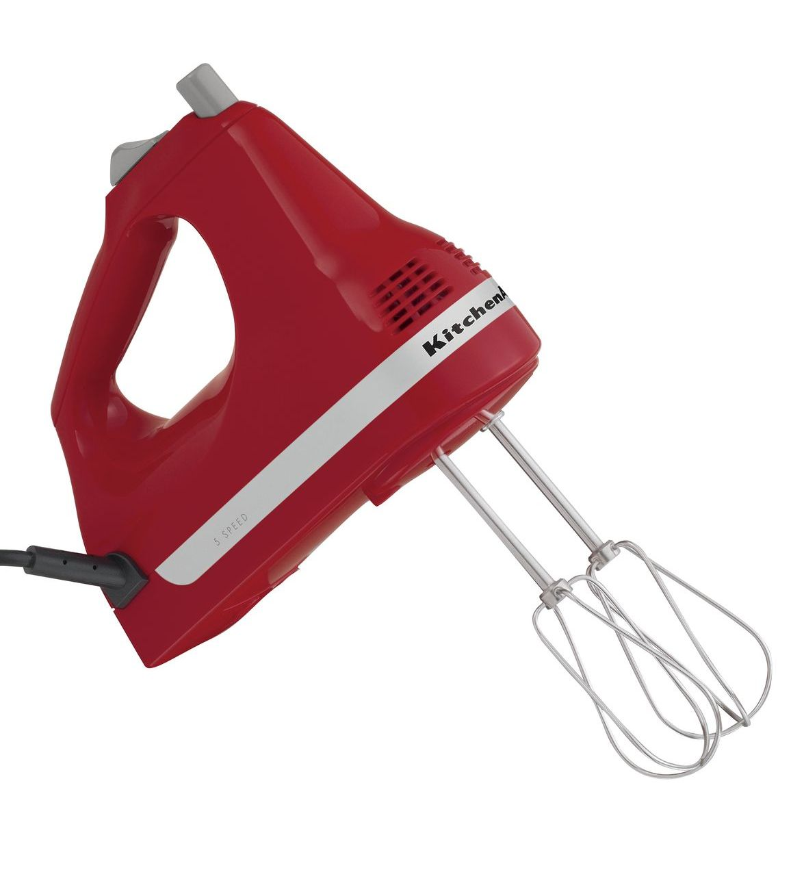 Red kitchenaid hand mixer photo - 1