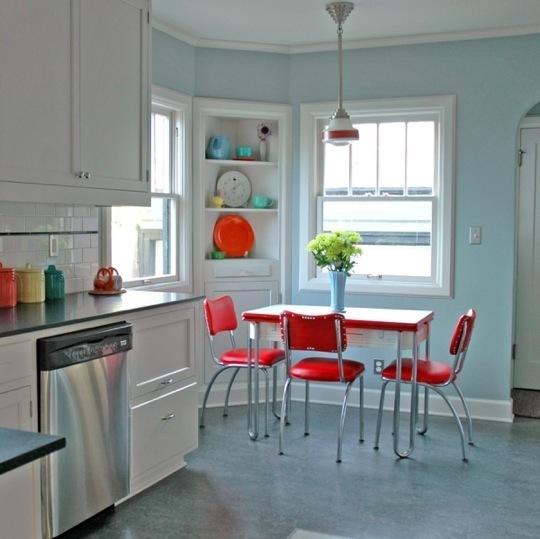 Red vintage kitchen photo - 1