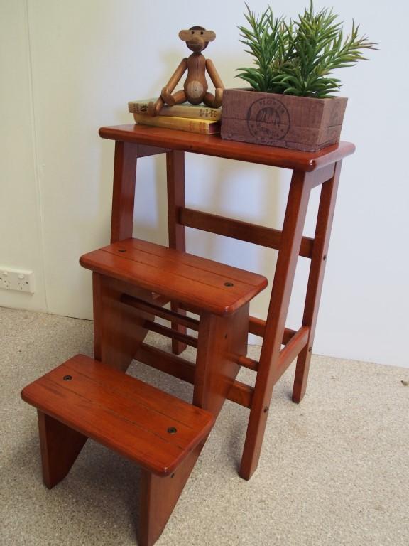 Retro kitchen stool with steps photo - 2