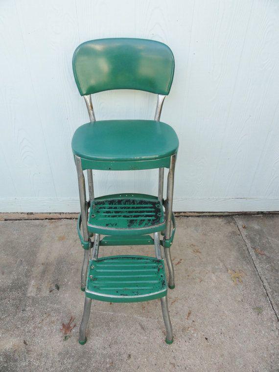 Retro kitchen stool with steps photo - 3