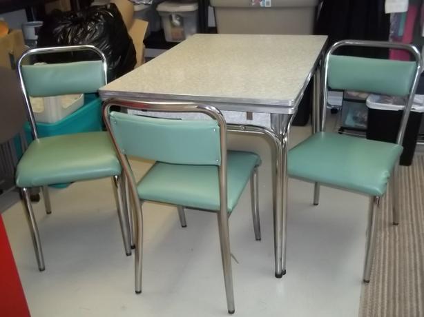 Retro kitchen table set photo - 3
