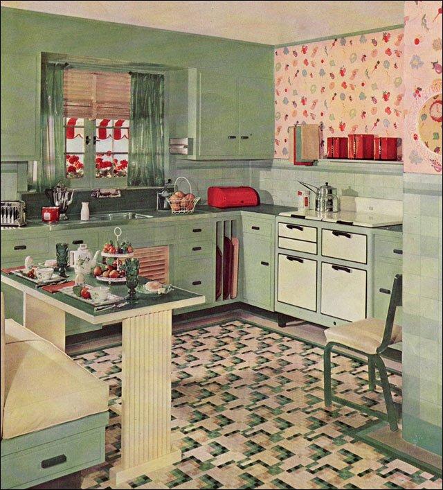 Retro pink kitchen photo - 1