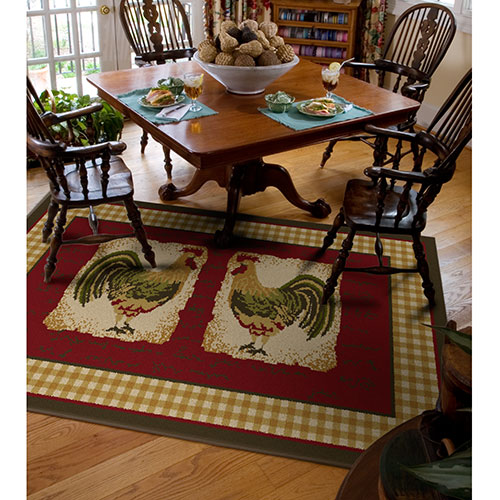 Rooster area rugs kitchen photo - 1