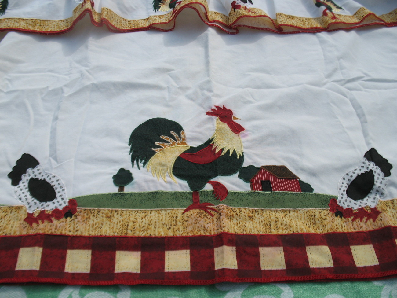 Rooster kitchen curtains photo - 1