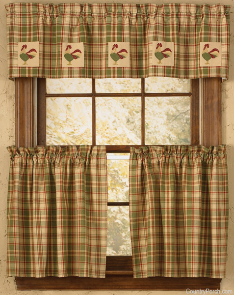 Red Kitchen Curtains For Sale