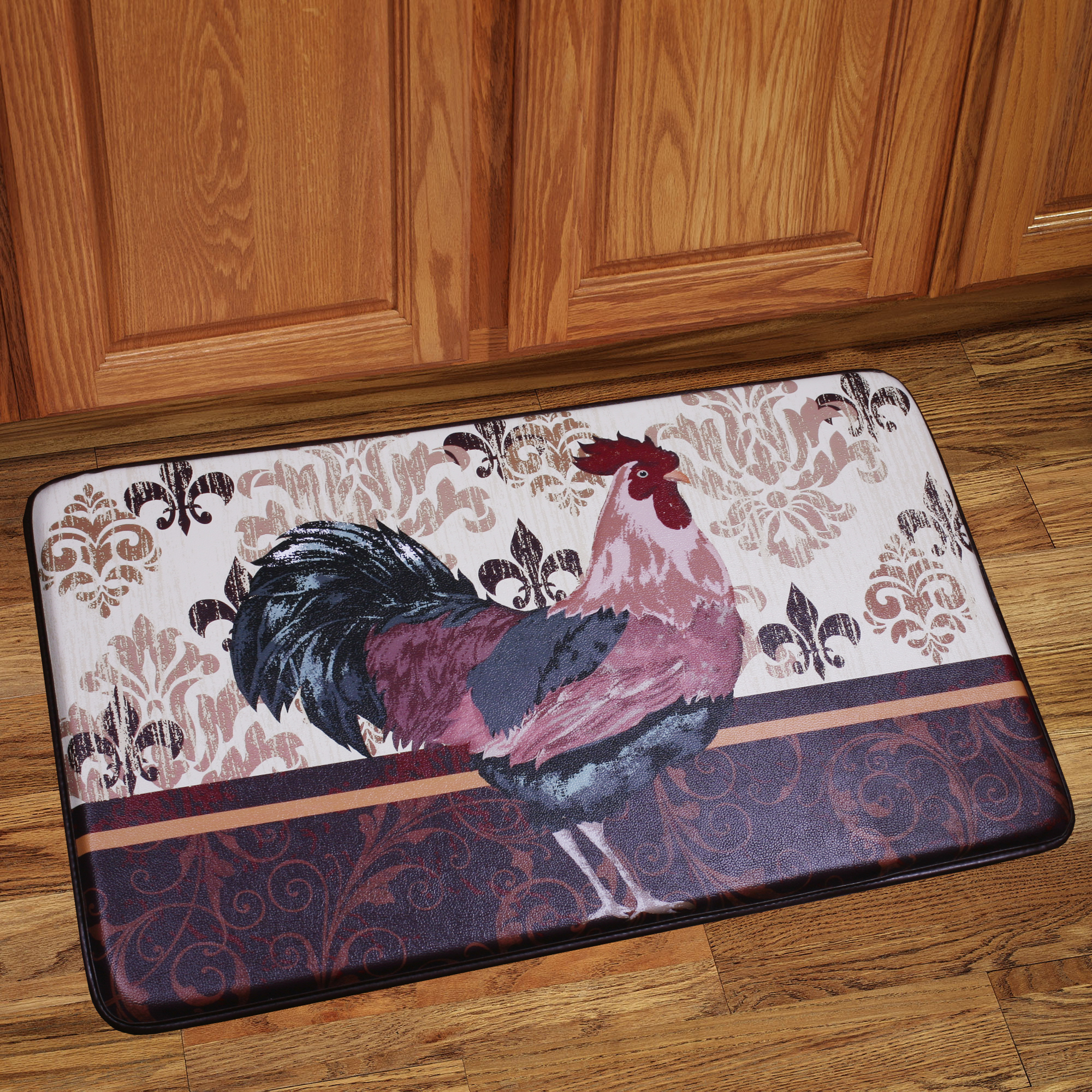 Rooster kitchen mat photo - 2