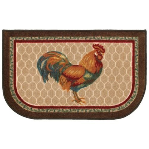 Rooster kitchen mat photo - 3