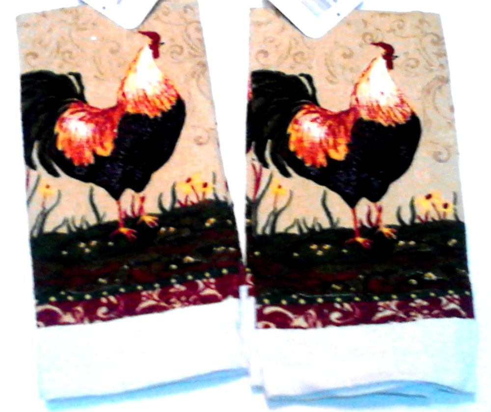 Rooster kitchen towels photo - 2