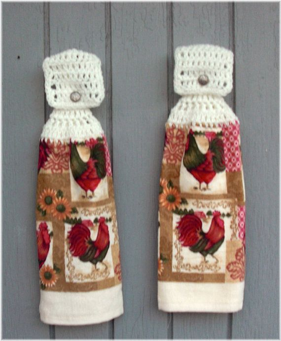 Rooster kitchen towels photo - 3