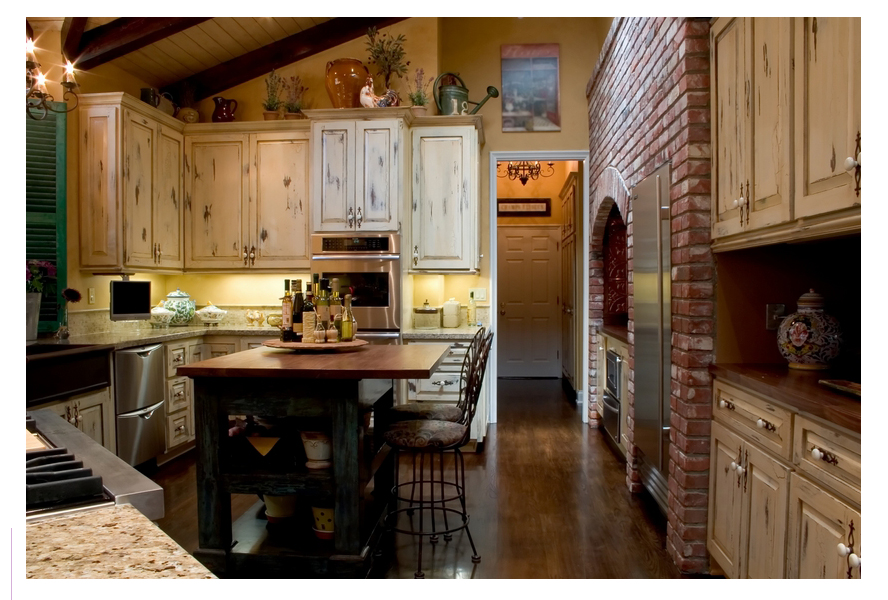 Round country kitchen tables photo - 1