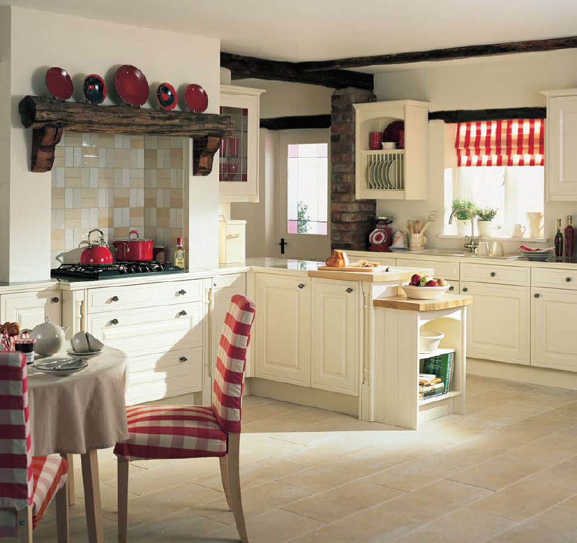 Round country kitchen tables photo - 2