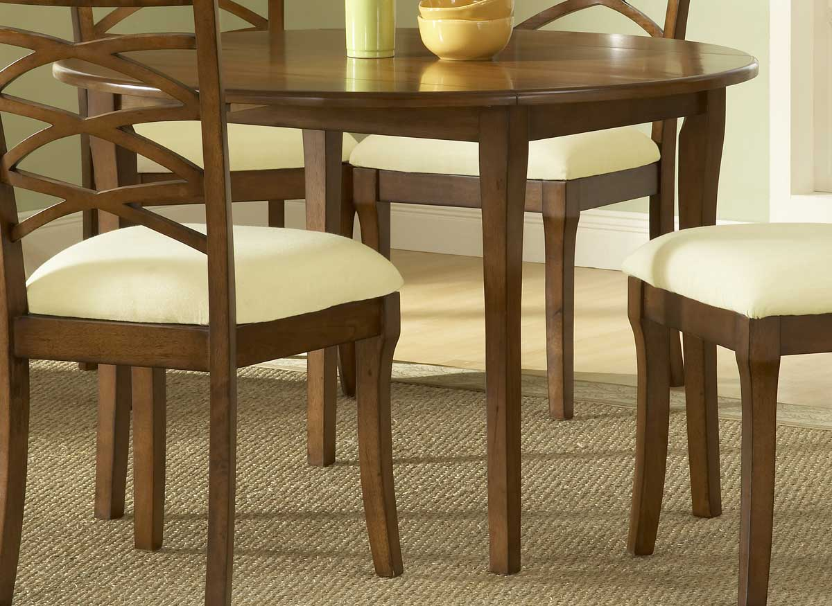 Round drop leaf kitchen table photo - 1