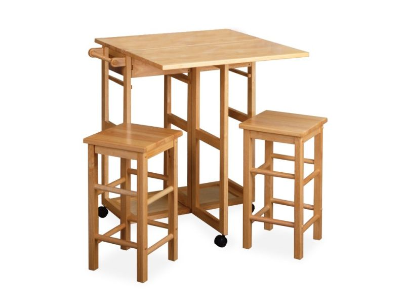 Round drop leaf kitchen table photo - 2