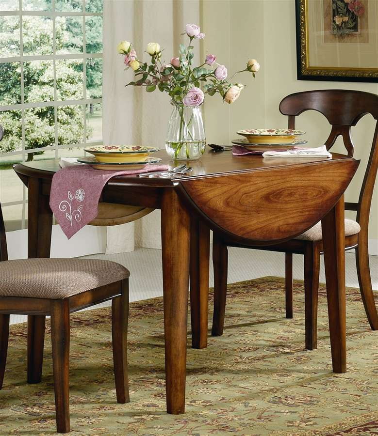 Round drop leaf kitchen table photo - 3
