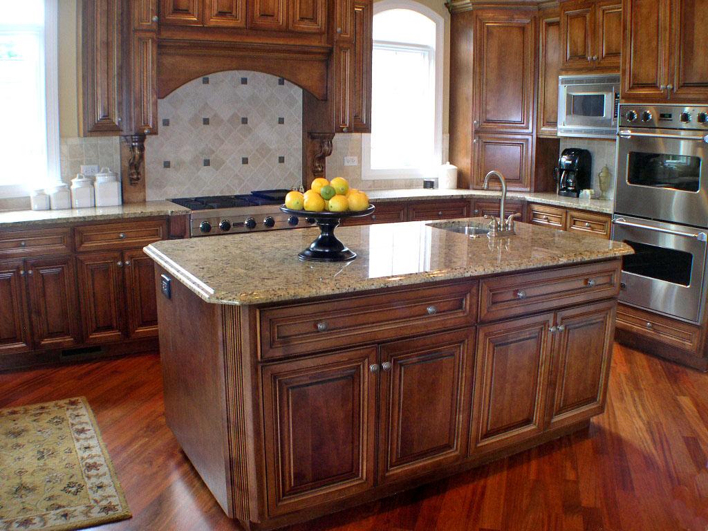Round kitchen island with seating photo - 3