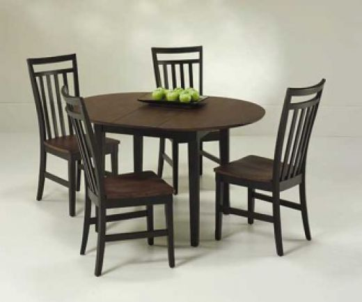 Round kitchen table and chairs set photo - 3