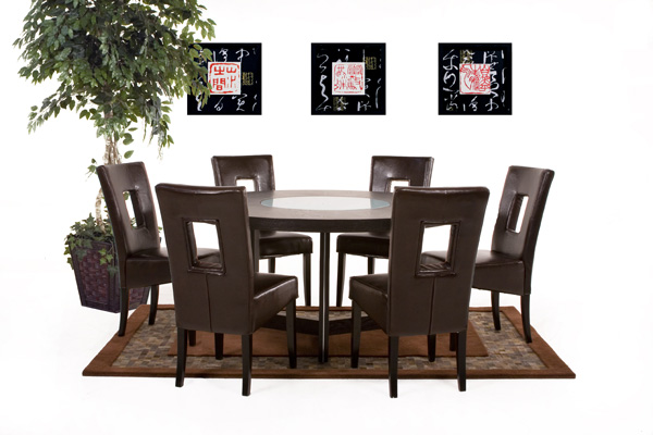 Round kitchen table sets photo - 3