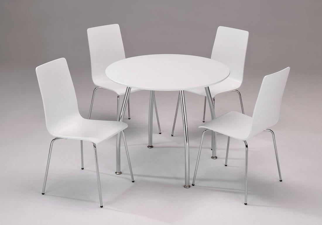 Round white kitchen table photo - 1