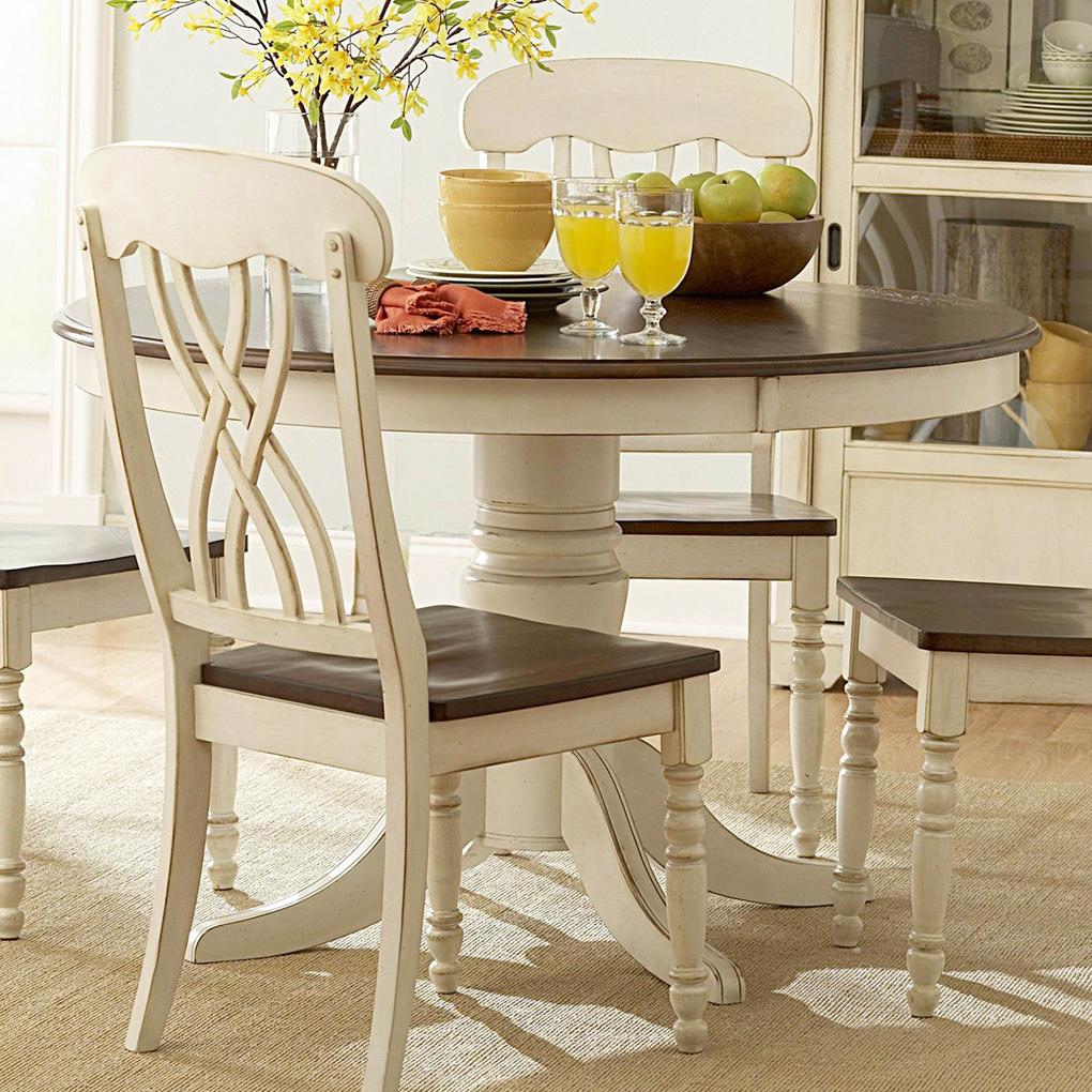 Round white kitchen table photo - 2