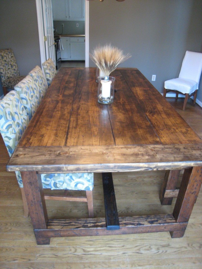 Rustic kitchen table with bench | | Kitchen ideas
