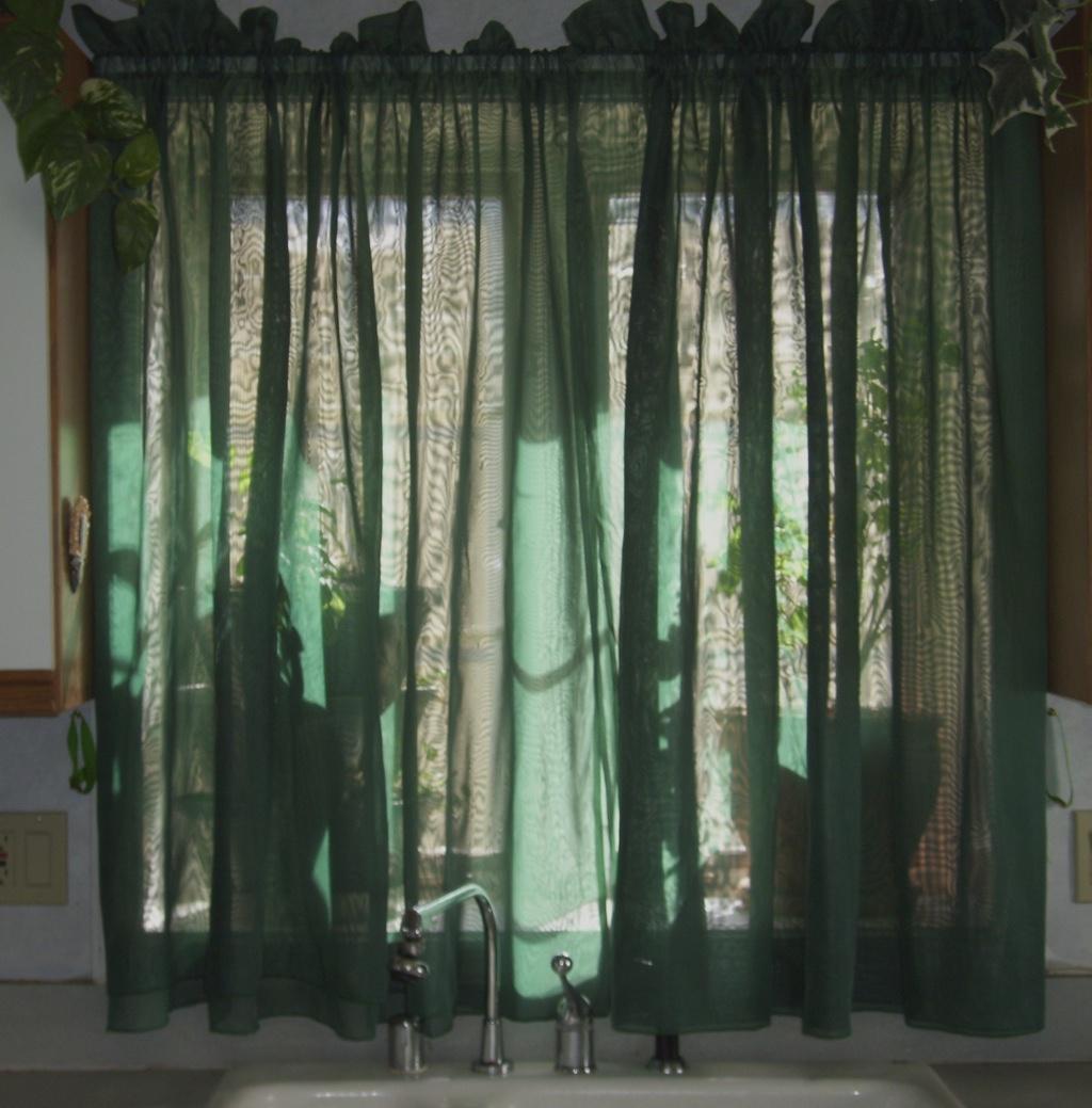 Sage kitchen curtains photo - 1