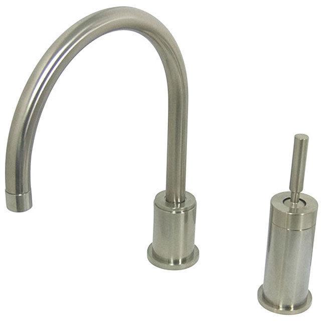 Satin nickel kitchen faucet photo - 1
