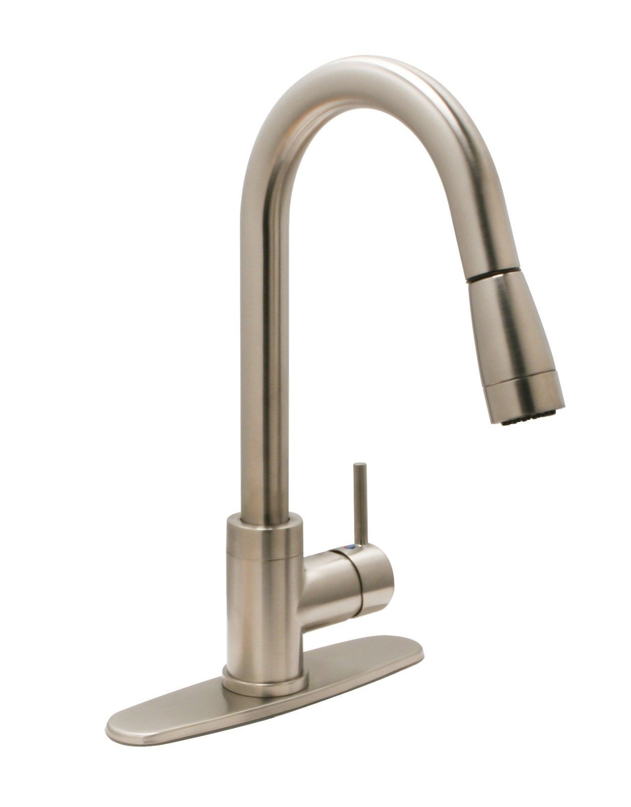 Charming 10 Photos To Satin Nickel Kitchen Faucet