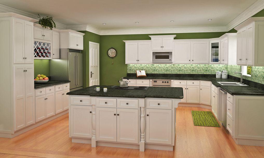 Shaker kitchen island photo - 1