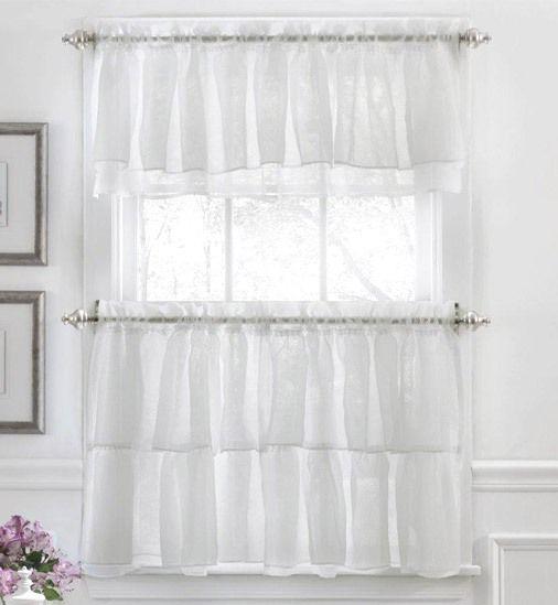 Sheer kitchen curtains photo - 1