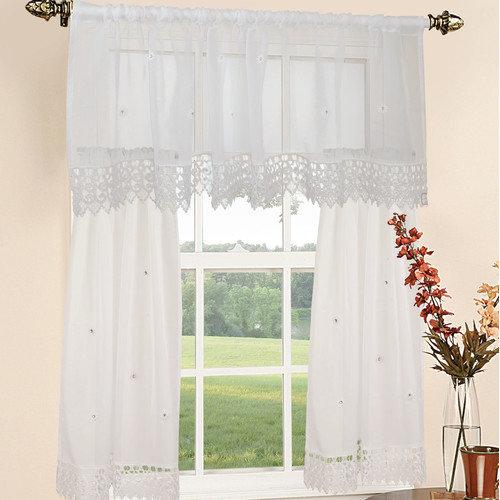 Sheer kitchen curtains photo - 2