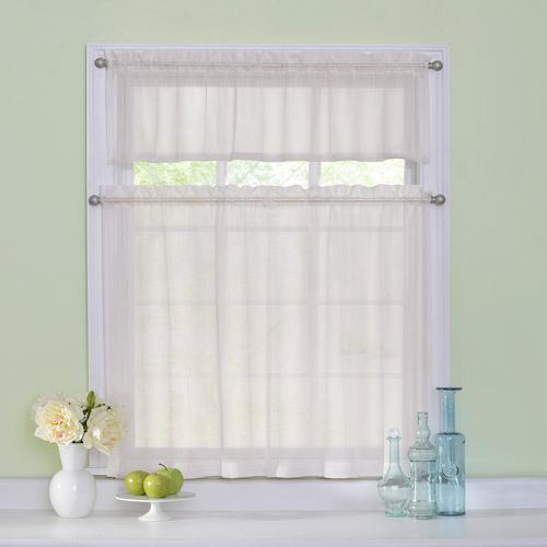 Sheer kitchen curtains photo - 3