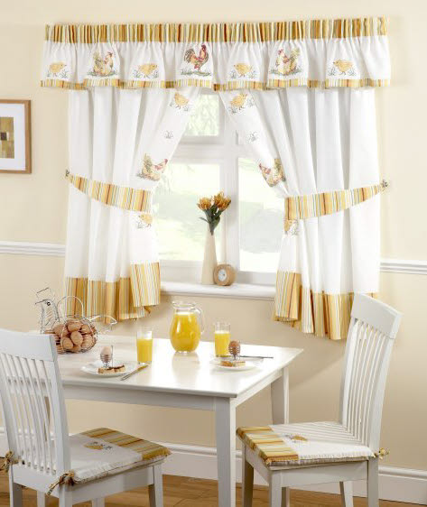 Exceptionnel 10 Photos To Small Kitchen Curtains