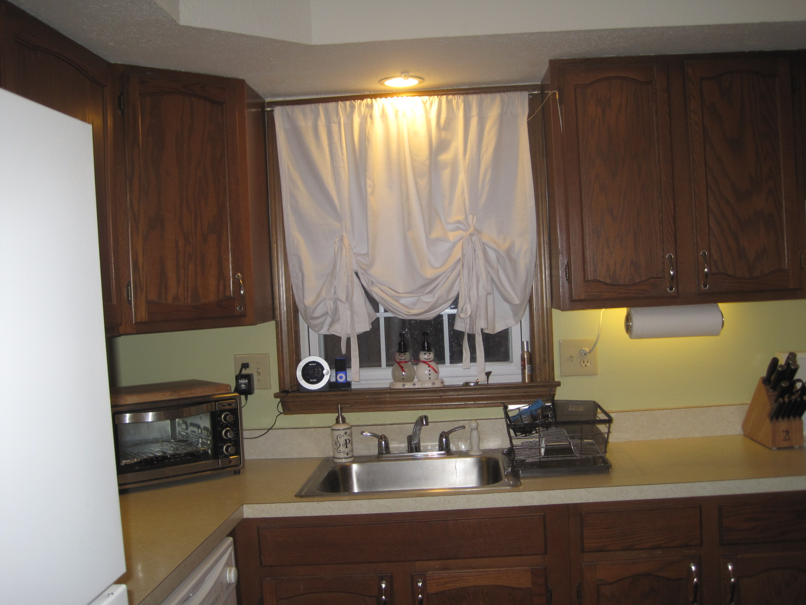 Small kitchen curtains photo - 2